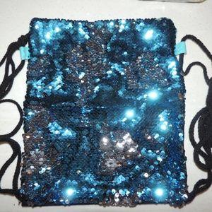 NEW Blue/Silver Sequin Shift Glitter Backpack